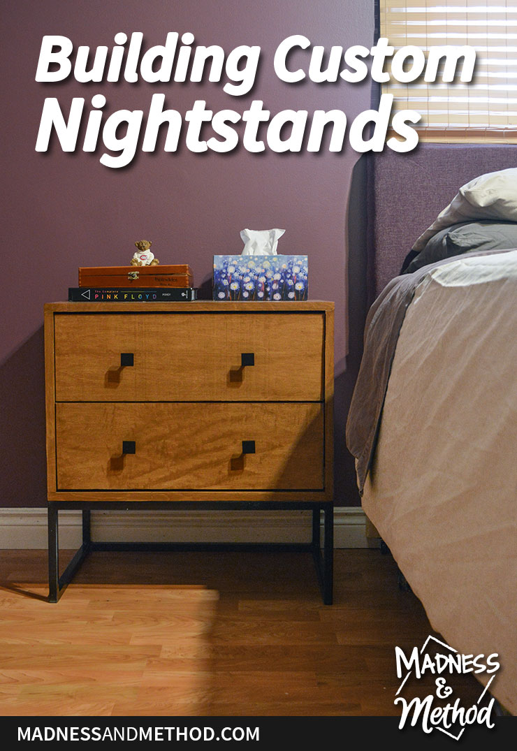building custom nightstands graphic