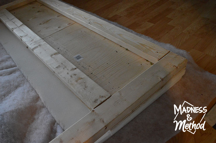 attaching foam to headboard