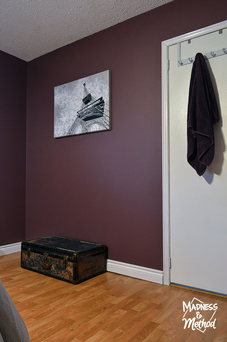 dark purple walls in master bedroom