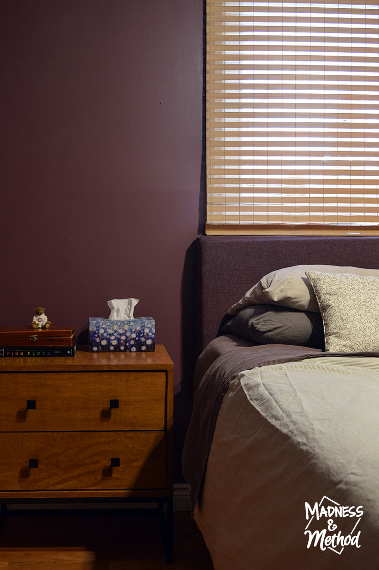 dark purple master bedroom