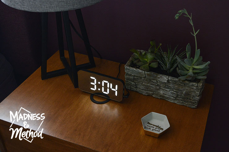 alarm clock nightstand