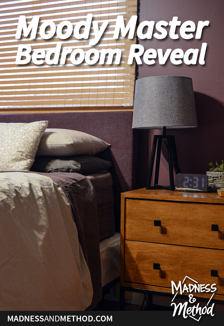 moody master bedroom reveal