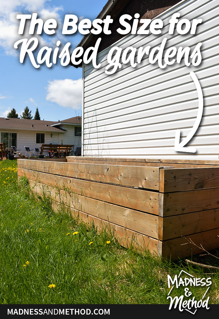 the best size for raised gardens
