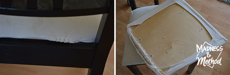 removing fabric cover from chairs
