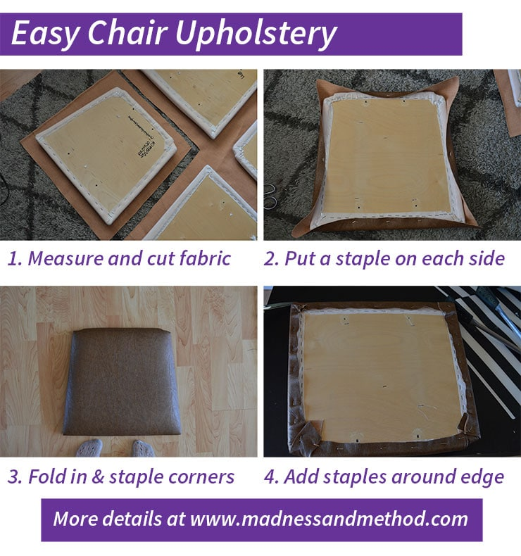 easy chair upholstery steps