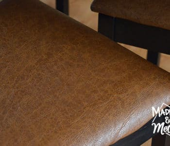 brown leather look dining chairs