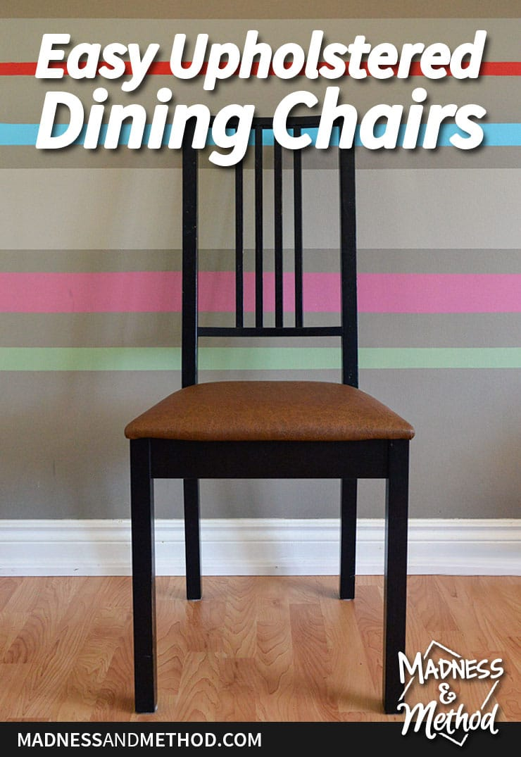 easy upholstered dining chair DIY