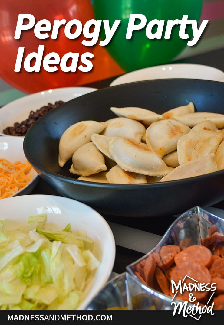 perogy party ideas graphic