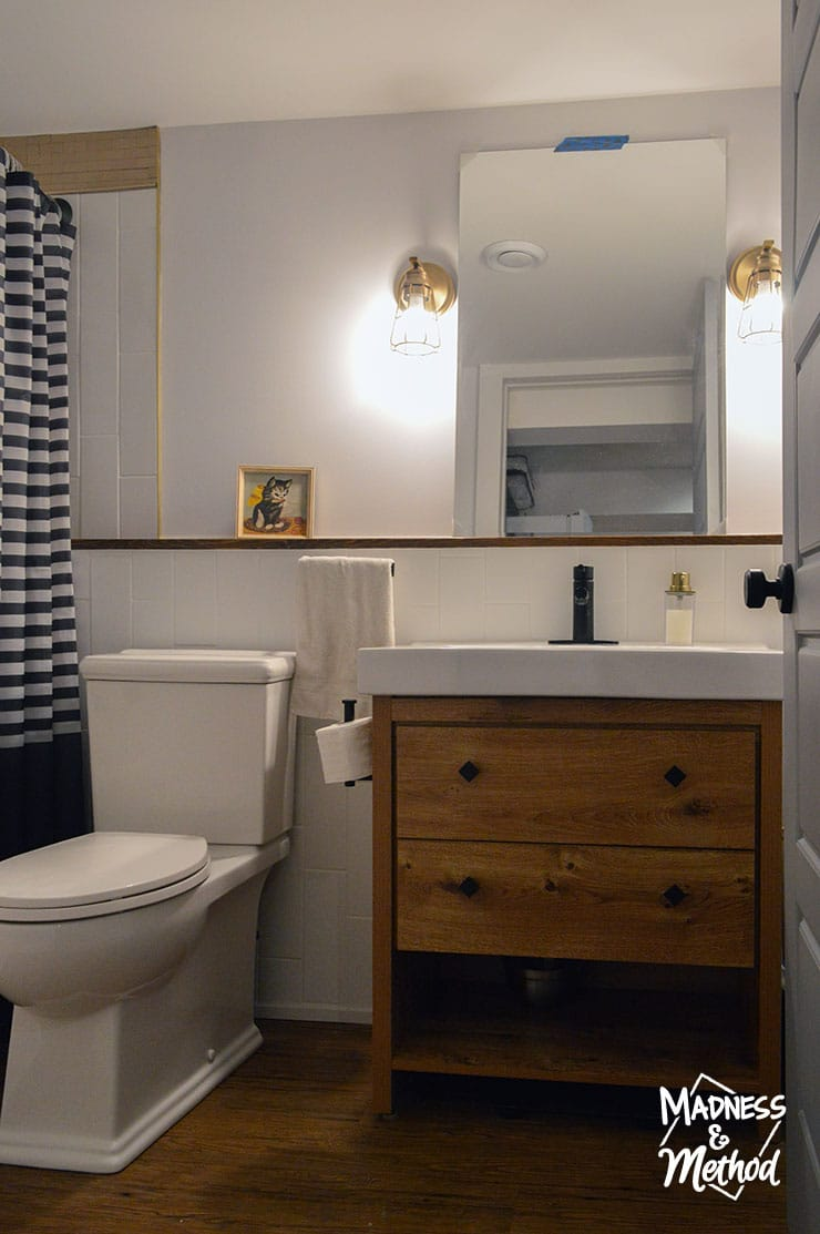 basement bathroom reveal