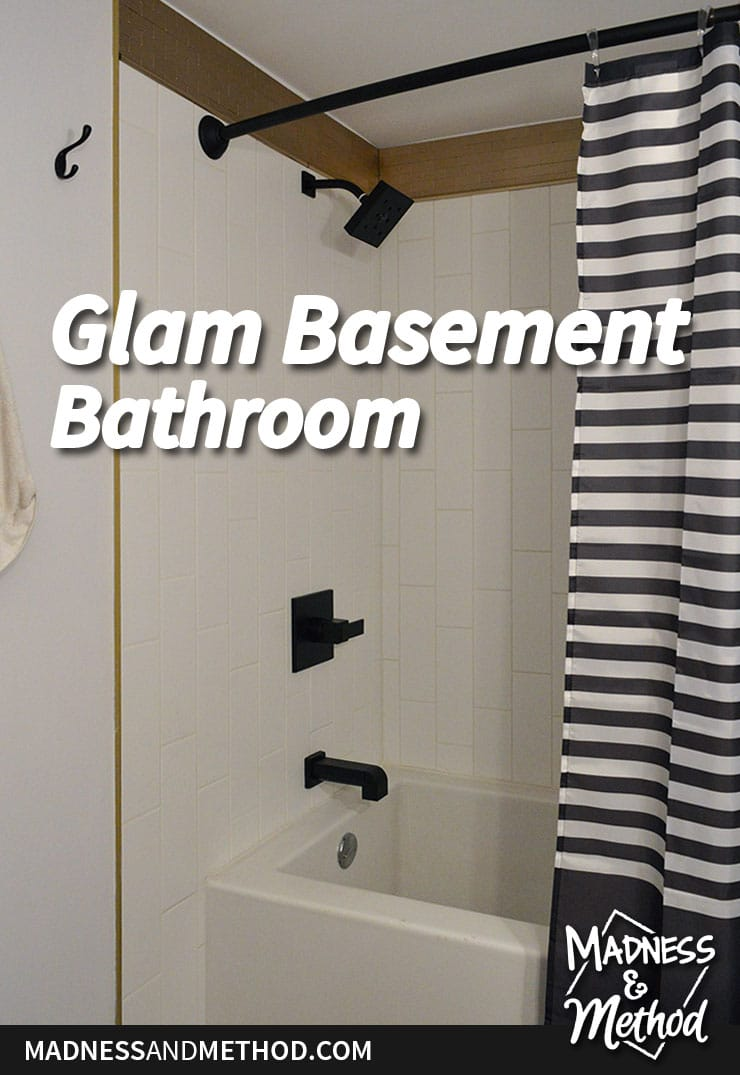 glam basement bathroom reveal