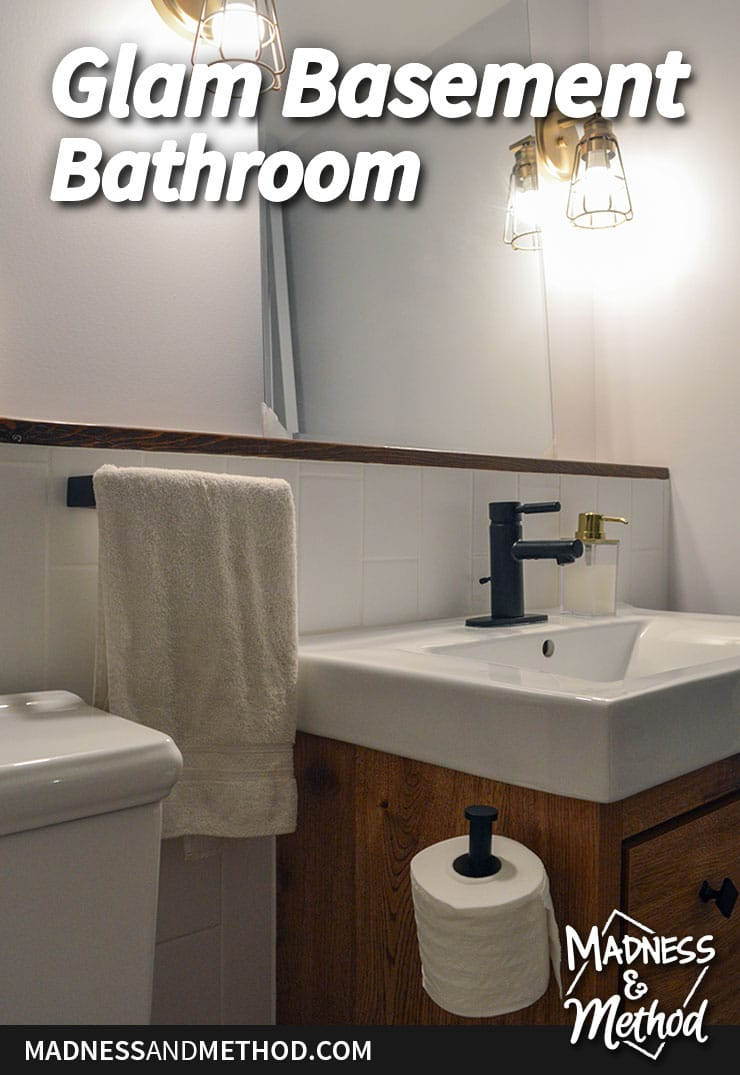 glam basement bathroom