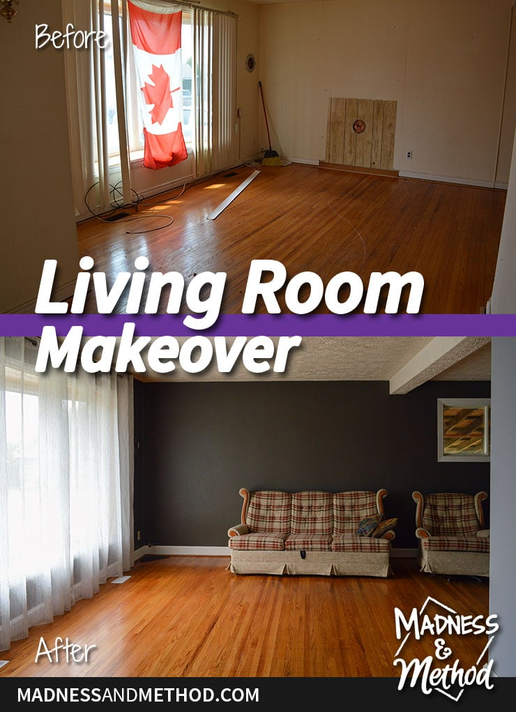 living room makeover before after