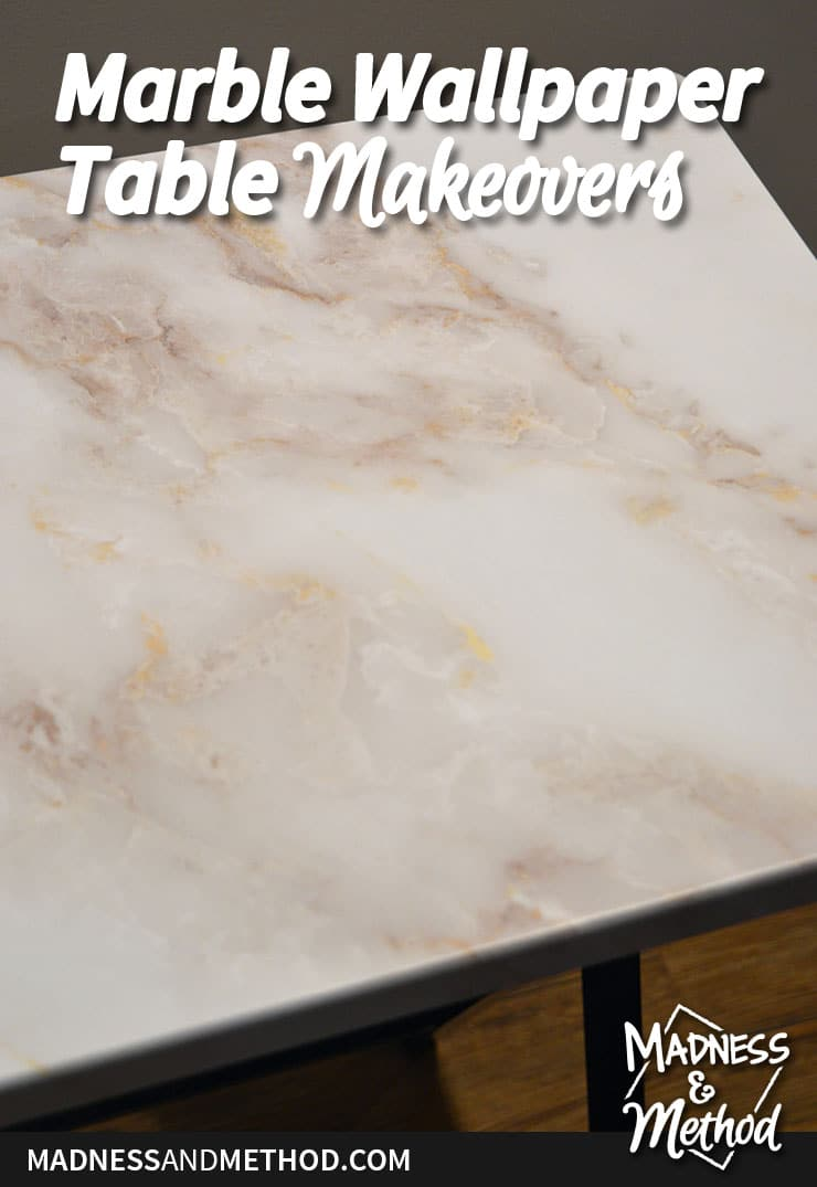marble wallpaper table makeovers graphic