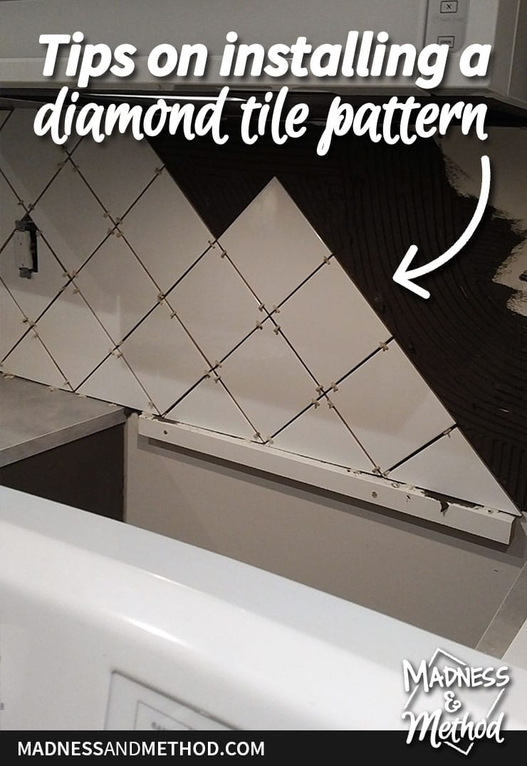tips on installing a diamond tile pattern