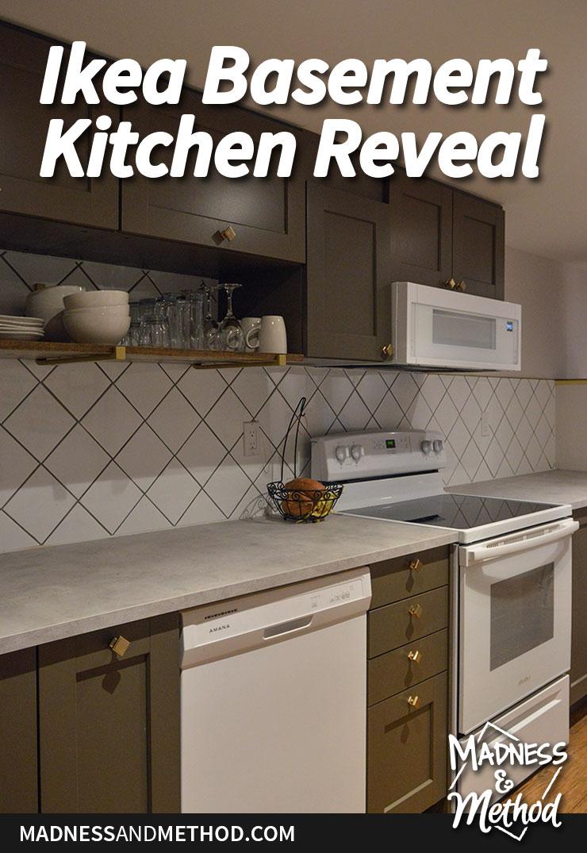 ikea basement kitchen reveal