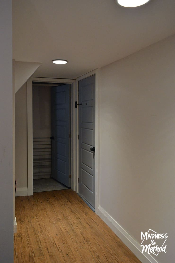 rental renovation shared hallway
