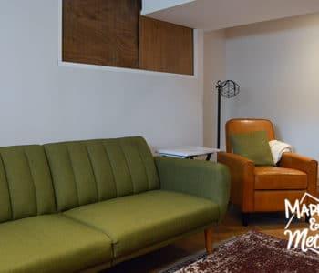basement living room furniture