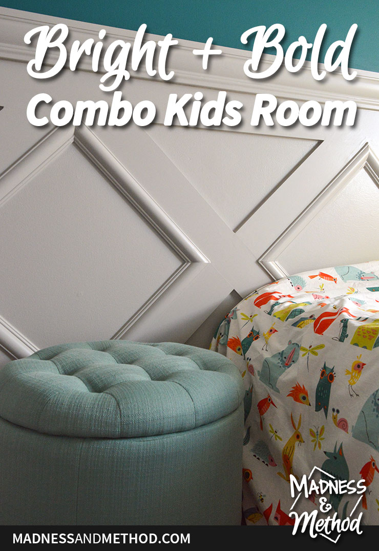 bright and bold combo kids room