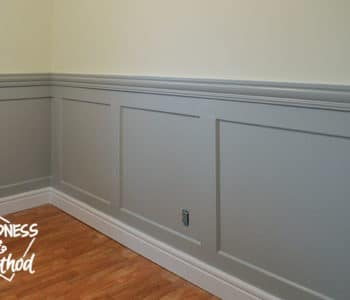 layered gray wainscoting