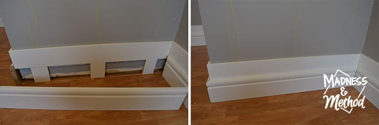 installing layered baseboards