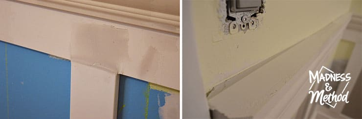patching wainscoting