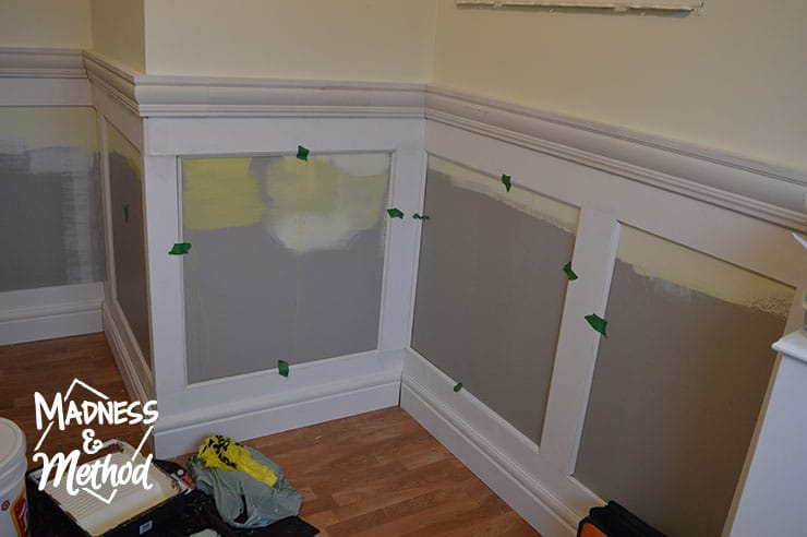 adding wainscoting detail pieces