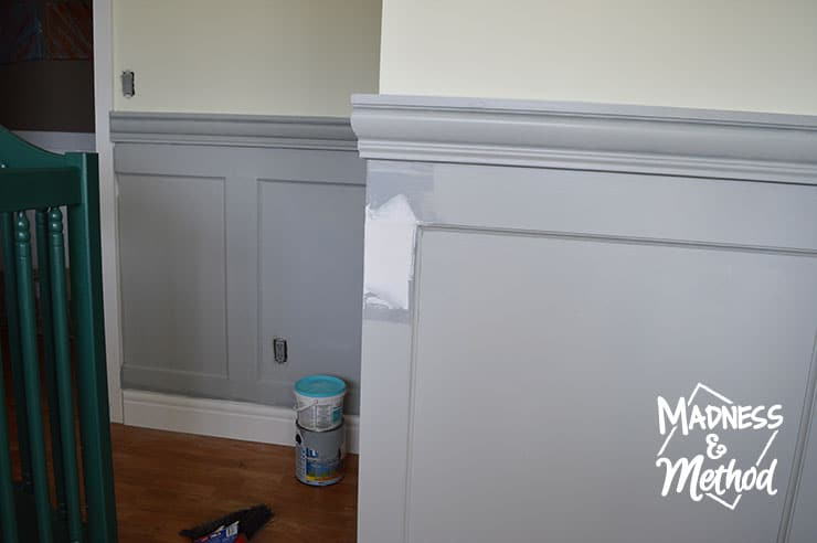 painting gray wainscoting