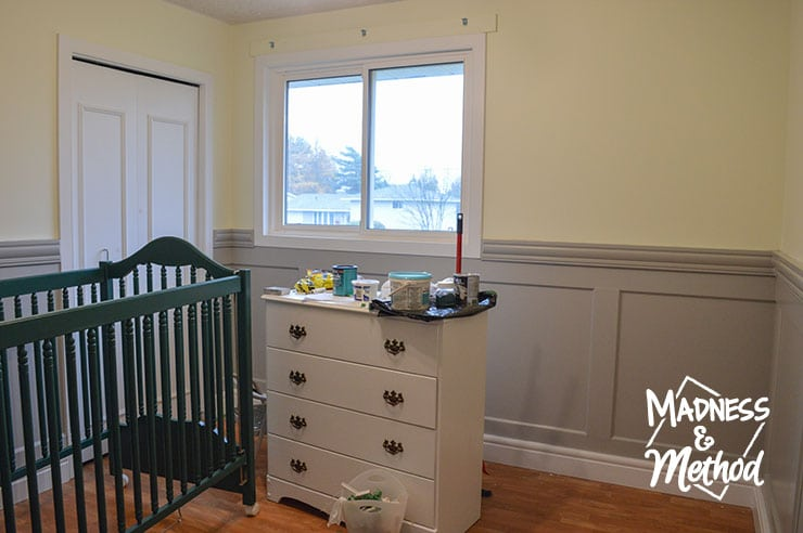 nursery bedroom wainscoting