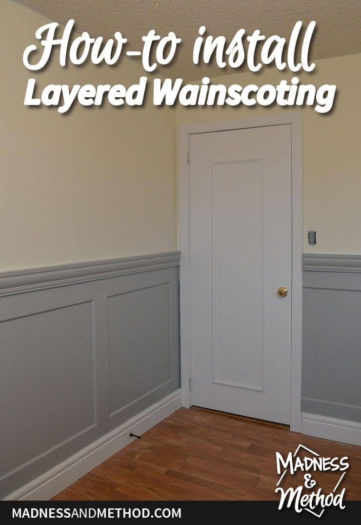installing layered wainscoting