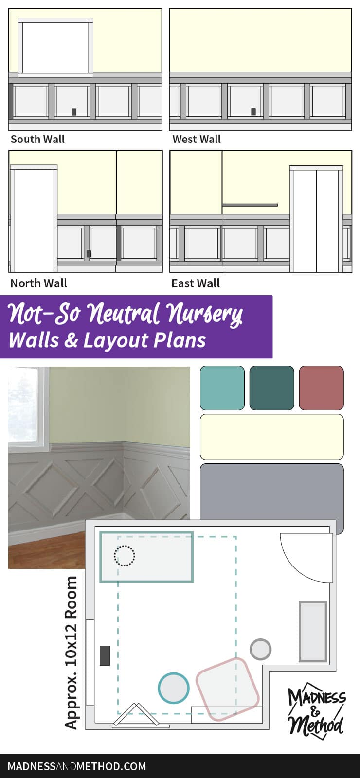 10x12 nursery layout