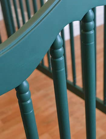 painting dark teal crib