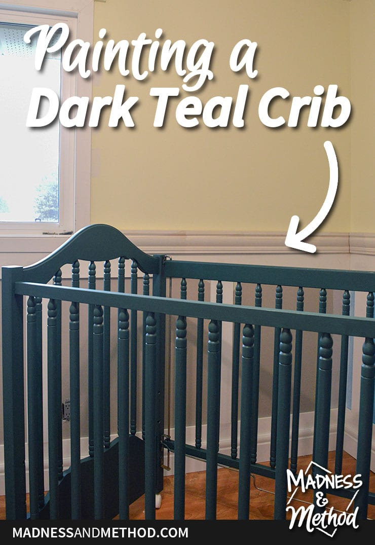 painting a dark teal crib