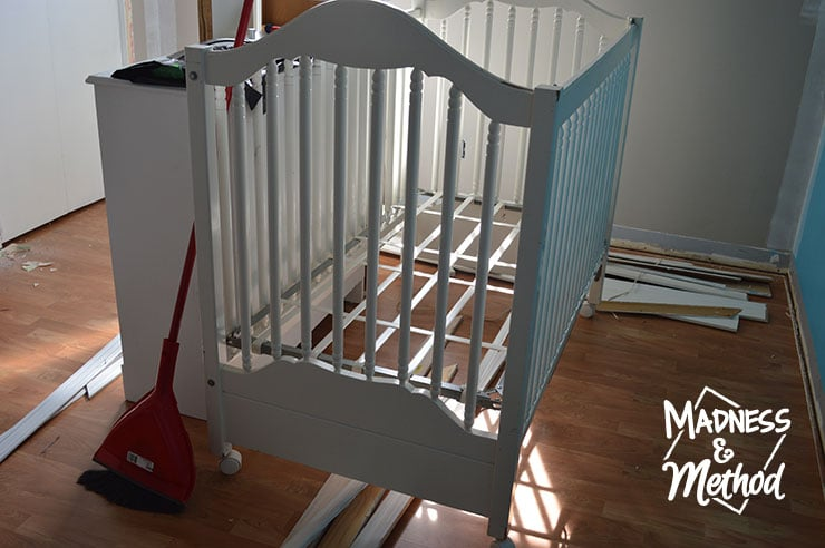 crib in middle of room