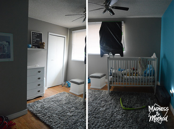 neutral nursery before photos