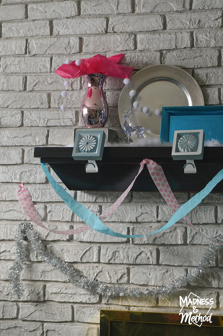 bright mantel decor
