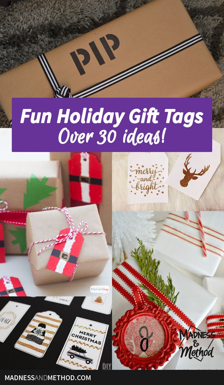 30 holiday gift tag ideas
