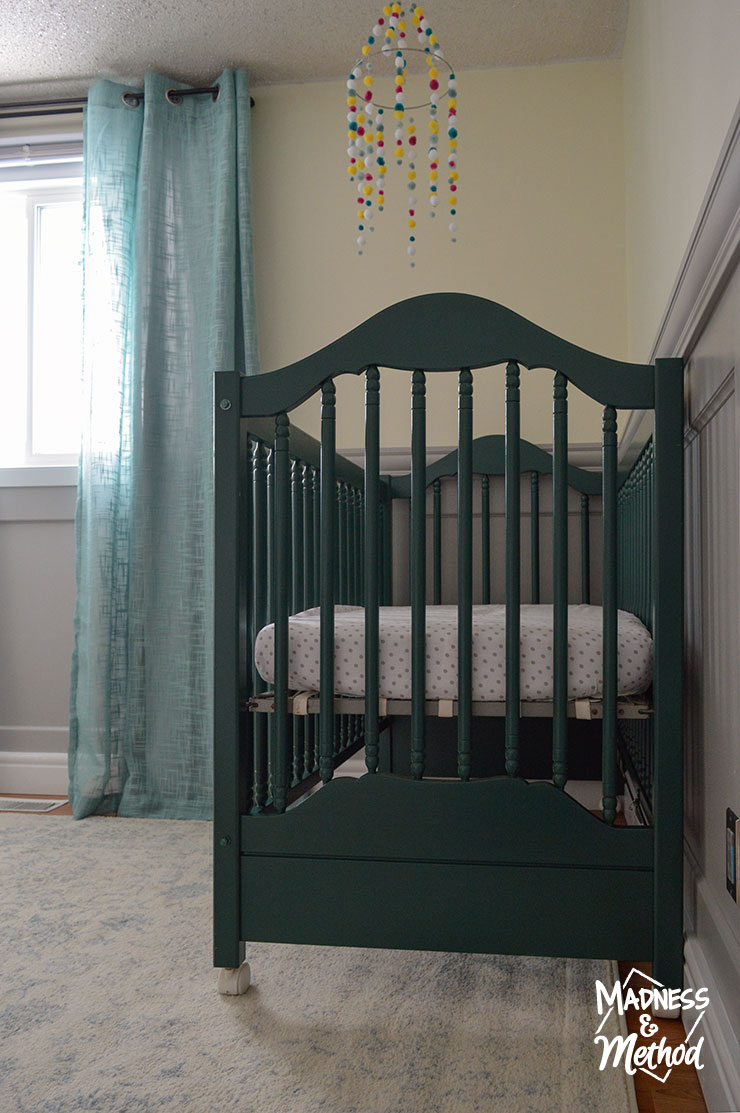 nursery crib setup