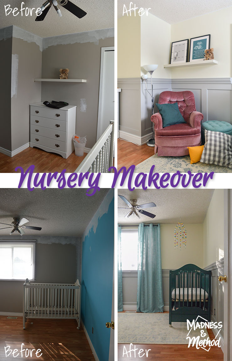 nursery makeover before and after