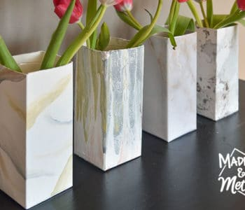 faux marble vases