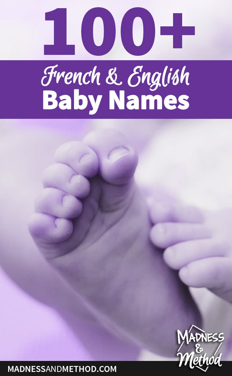 over 100 french and english baby names