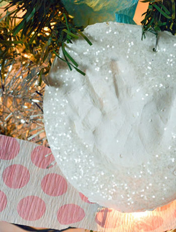 air dry clay handprint ornament