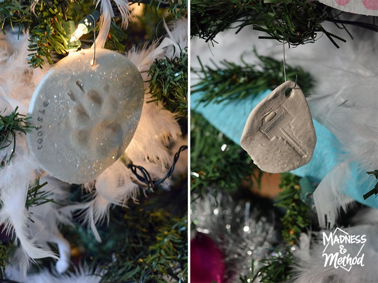 alternative handprint ornaments