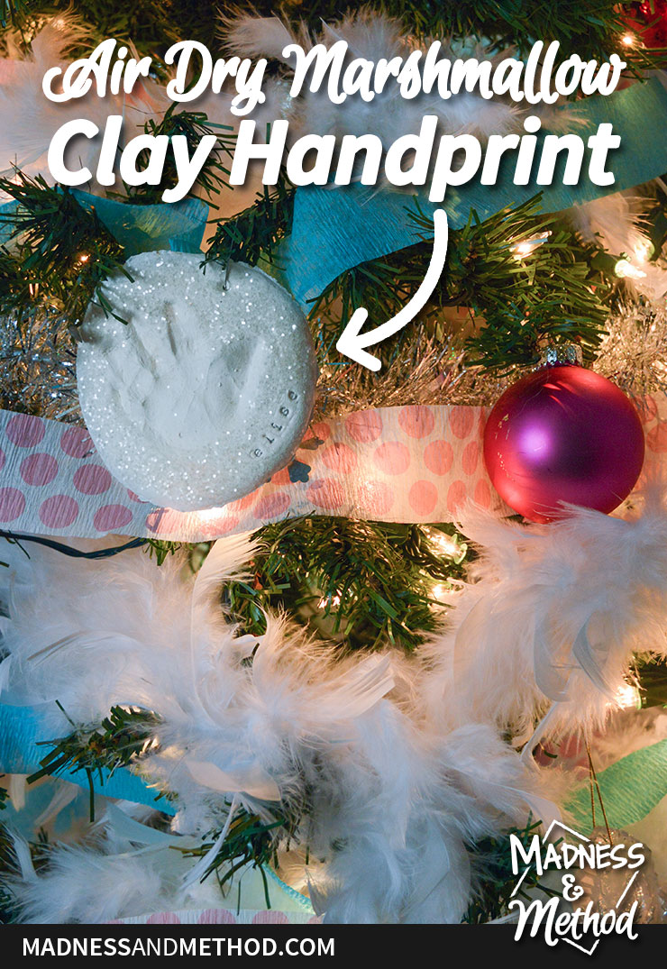 air dry marshmallow clay handprint