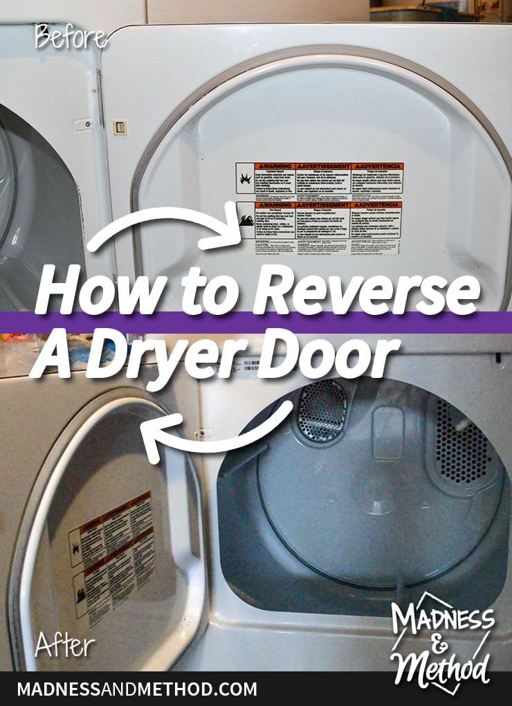 how to reverse a dryer door
