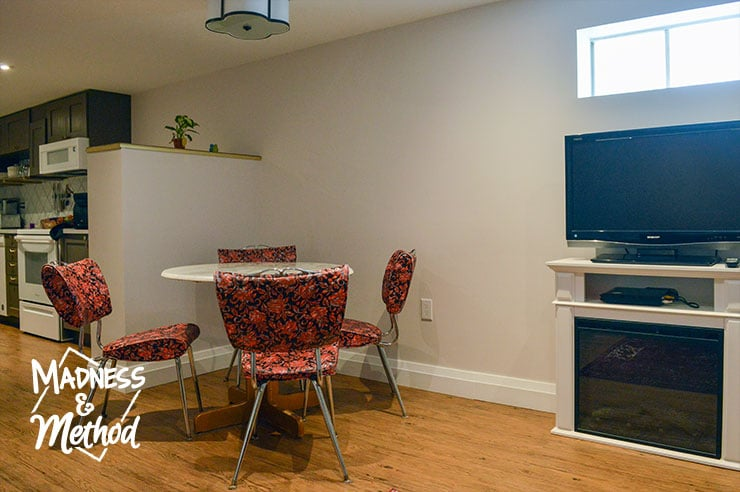 basement apartment dining room