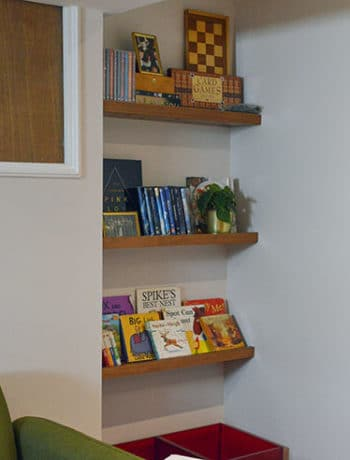 renter and family friendly shelves