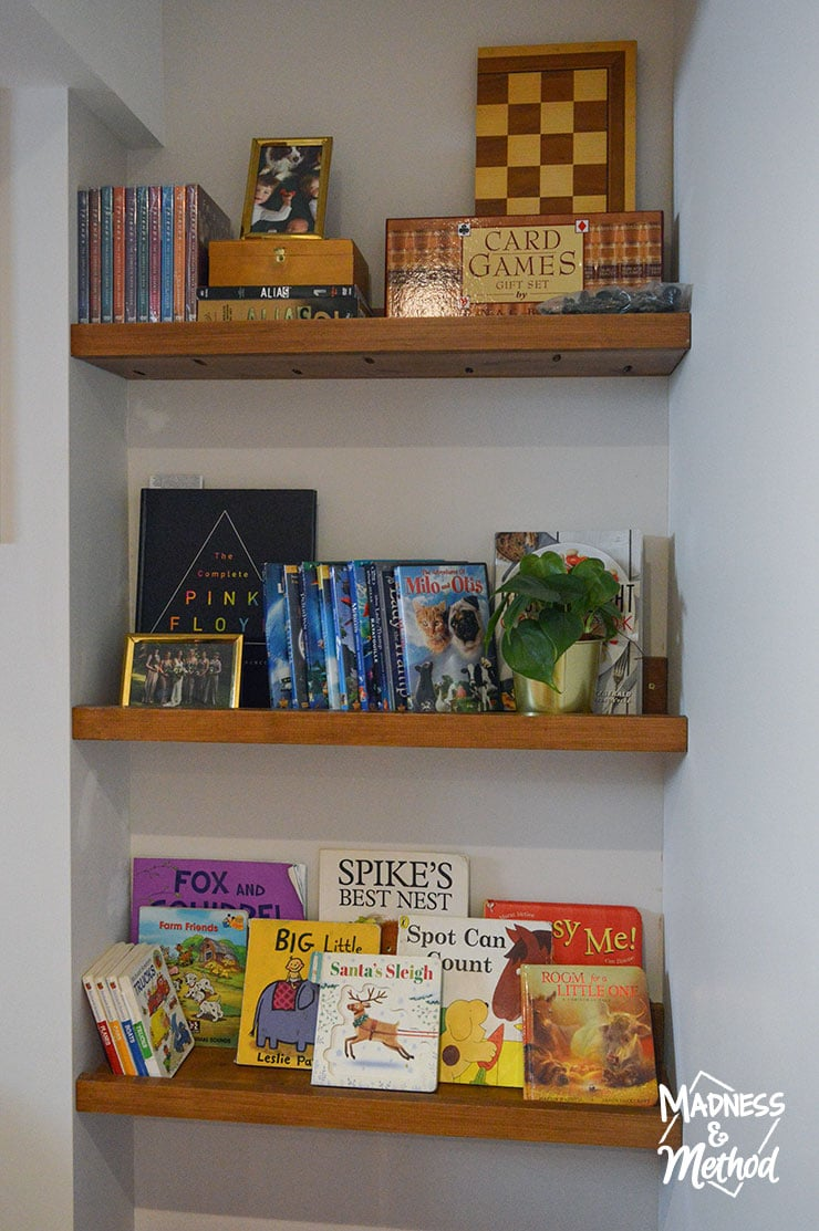 kid friendly shelves