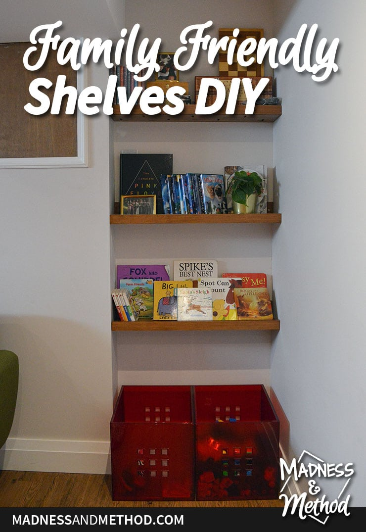 family friendly shelves diy