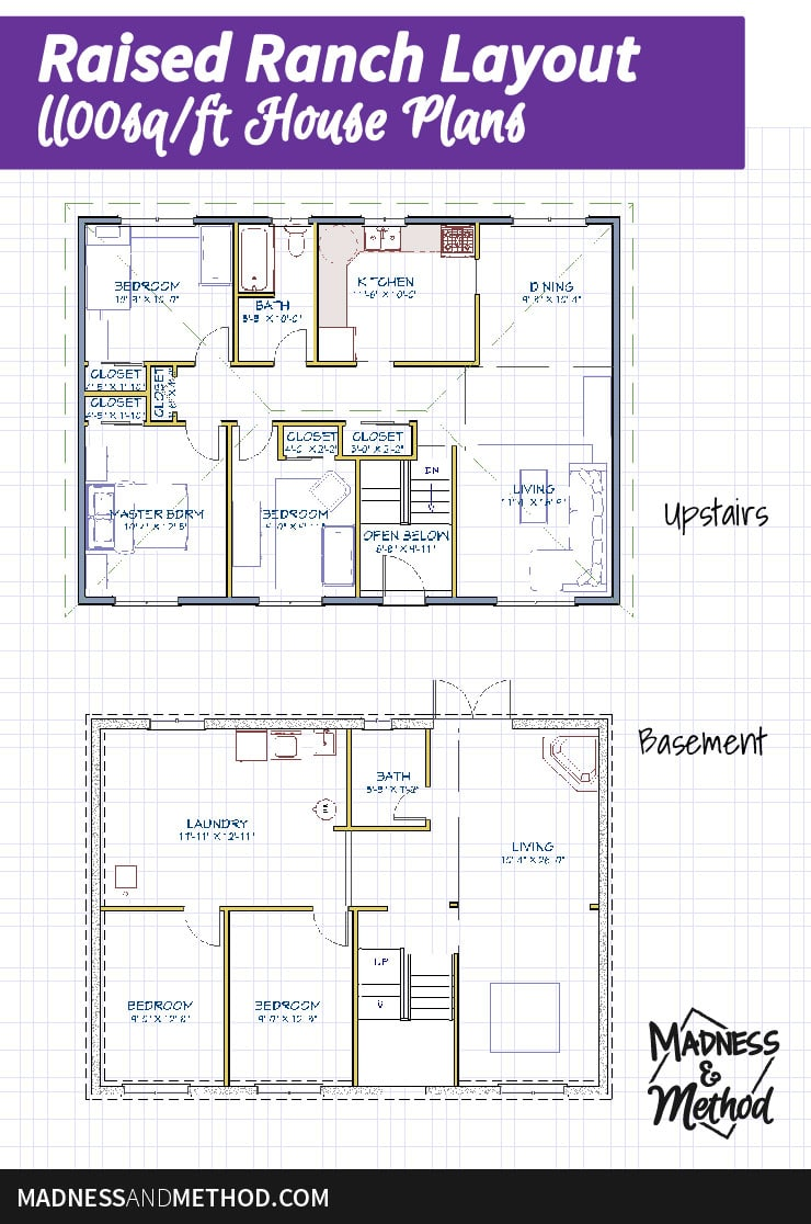 raised ranch floor layout