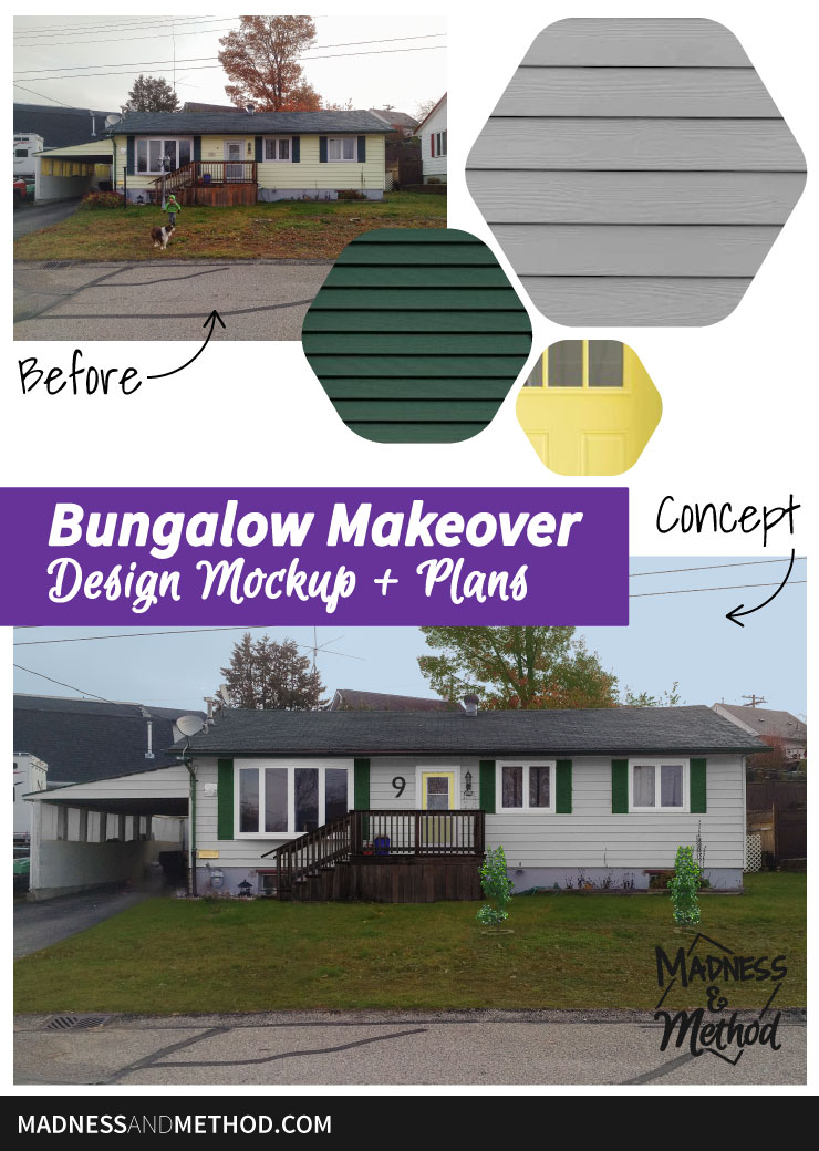bungalow makeover mockup plans